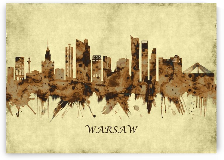Warsaw Poland Cityscape by Towseef