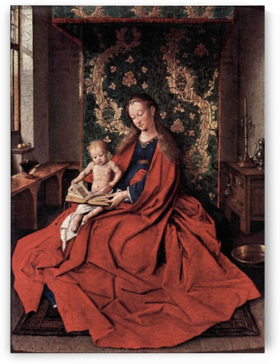 Madonna and child reading by Jan Van Eyck by Jan Van Eyck