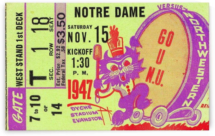 1947 notre dame northwestern university wildcats evanston illinois dyche stadium by Row One Brand