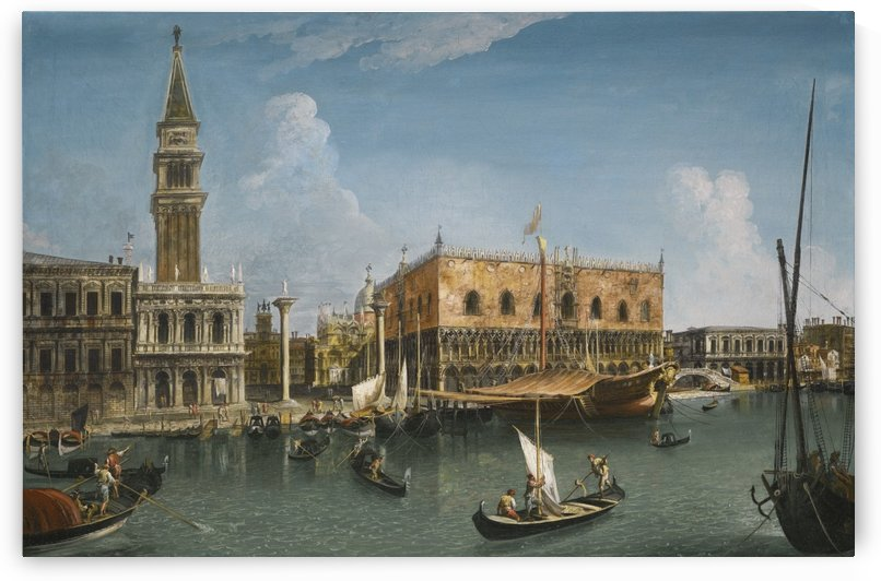 Venice, A view of the Molo from the Bacino with the Zecca, The Library by Michele Marieschi