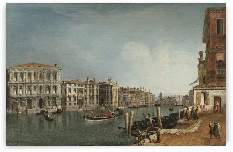 The Grand Canal at Ca Pesaro by Michele Marieschi