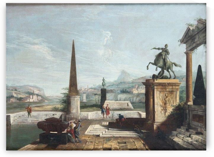 Among ruins by Michele Marieschi