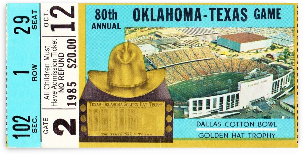 1985 Oklahoma vs. Texas by Row One Brand