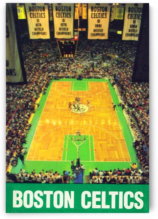 1988 Boston Celtics Boston Garden Art Poster Sale by Row One Brand