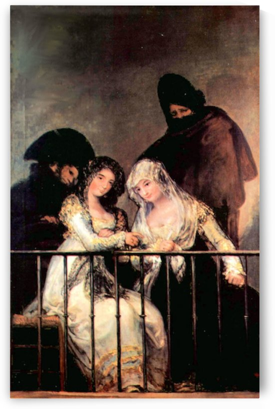 Majas on a Balcony by Goya by Goya