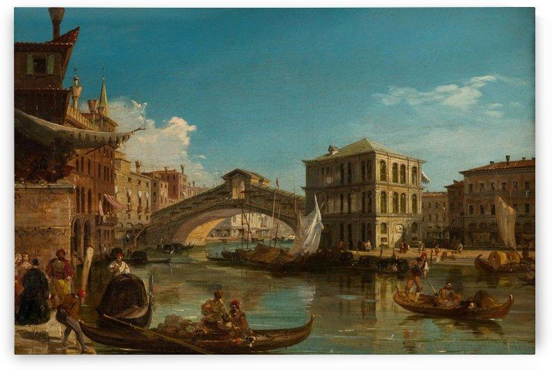 The Rialto Bridge, Venice, circa 1740 by Michele Marieschi