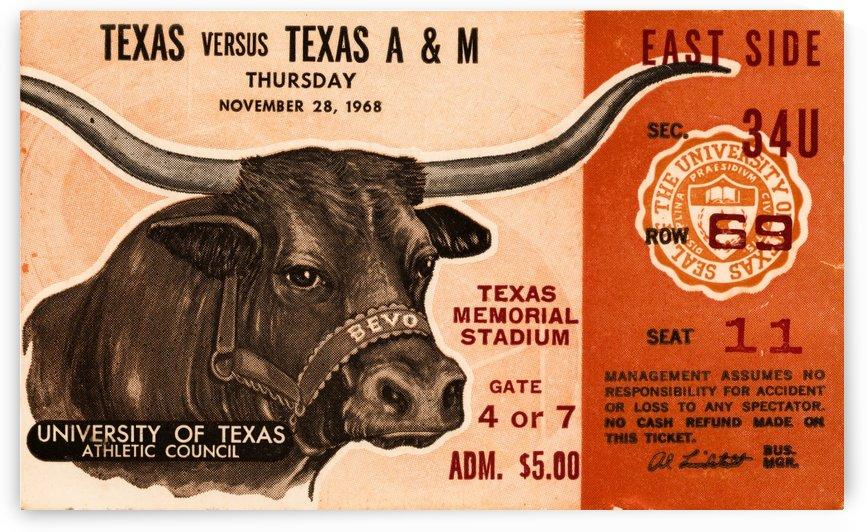 1968 Texas vs. Texas A&M by Row One Brand
