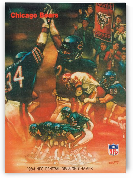 1984 chicago bears nfc central division champs art by Row One Brand