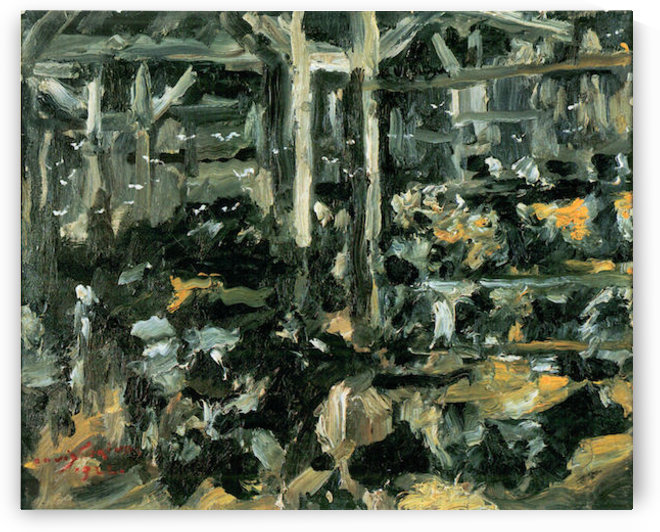 Cow Stable by Lovis Corinth by Lovis Corinth