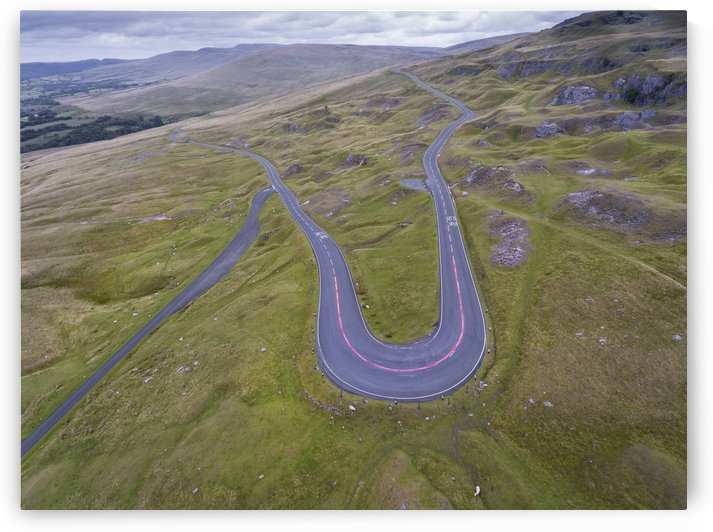Aerial view of Mountain Road by Leighton Collins