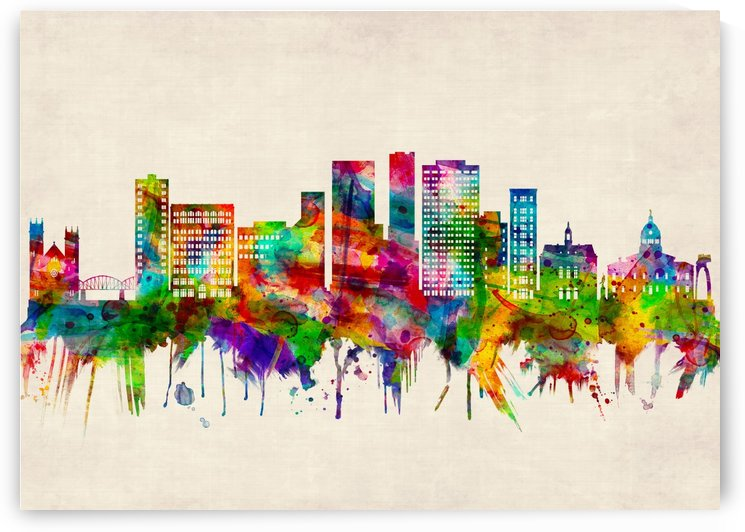 Binghamton New York Skyline by Towseef Dar