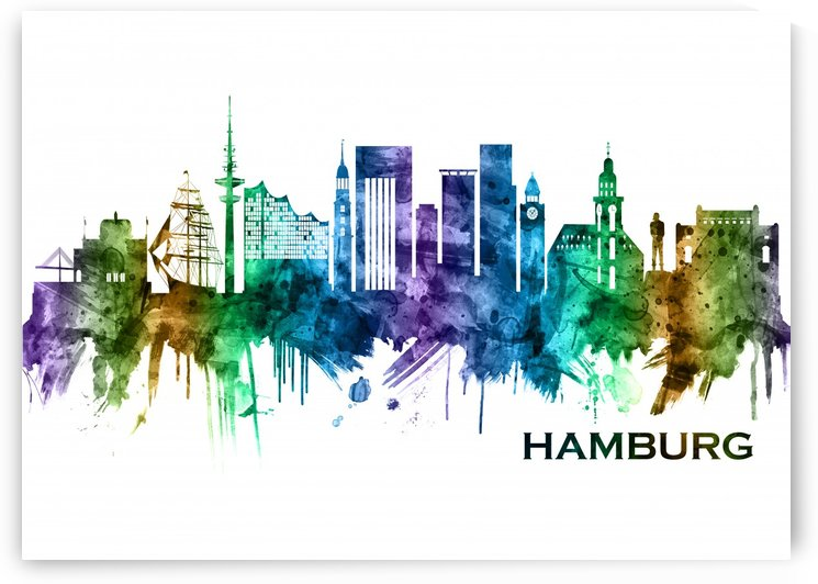 Hamburg Germany Skyline by Towseef Dar
