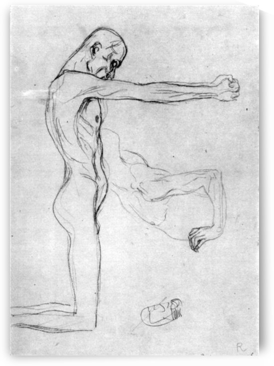 Man with with outstretched arms by Klimt by Klimt