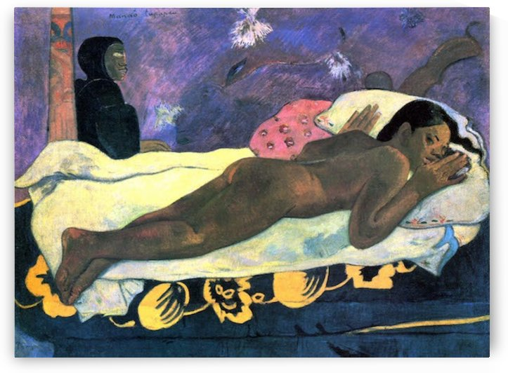 Manao Tupapau by Gauguin by Gauguin