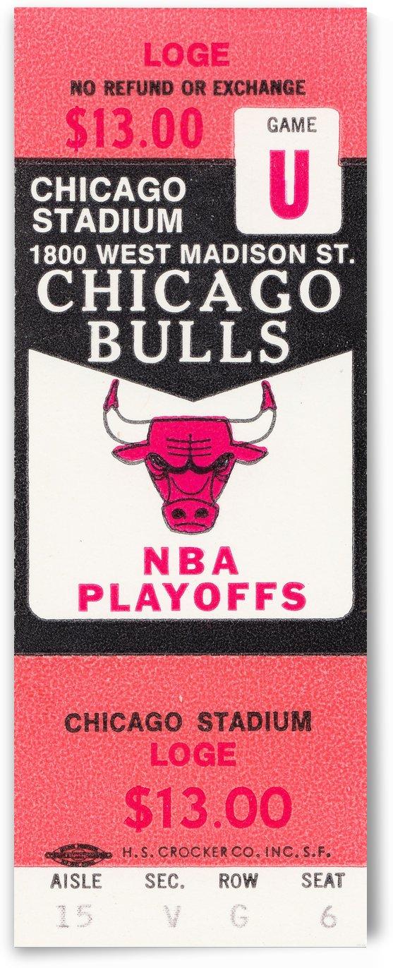 1982 chicago bulls nba playoffs phantom ticket by Row One Brand