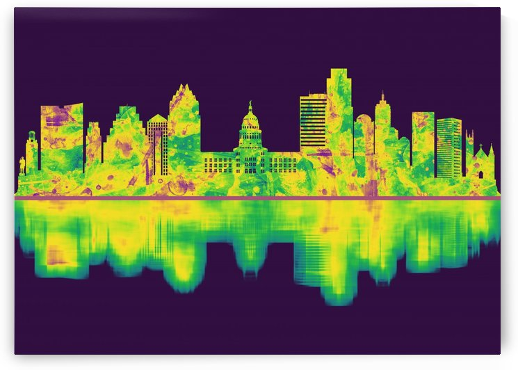 Austin Texas Skyline by Towseef Dar
