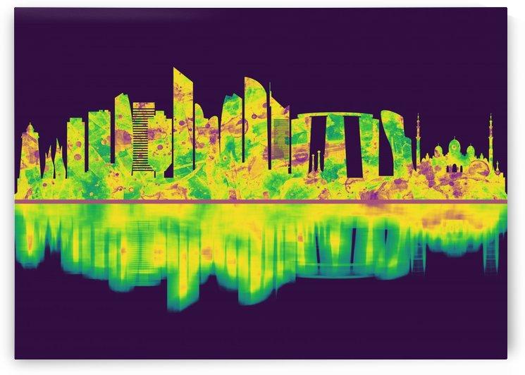 Abu Dhabi UAE Skyline by Towseef Dar