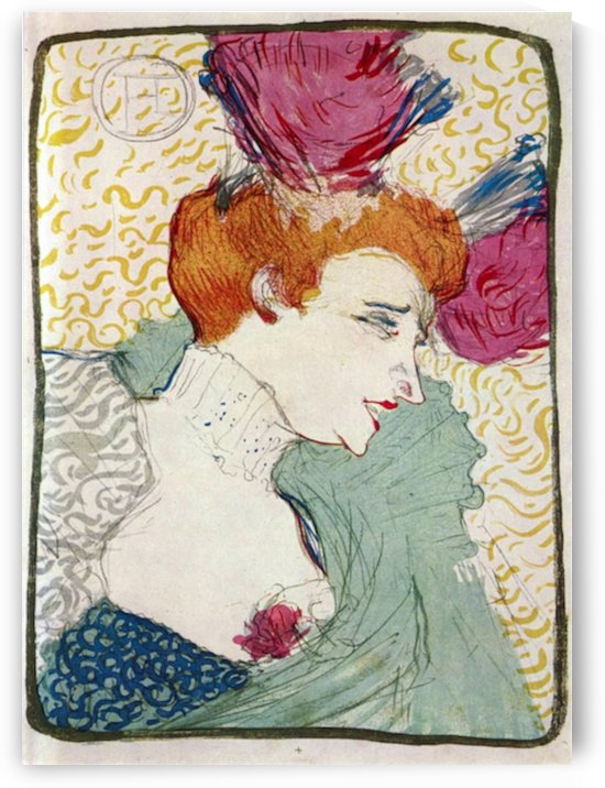 Marcellle Lender by Toulouse-Lautrec by Toulouse-Lautrec