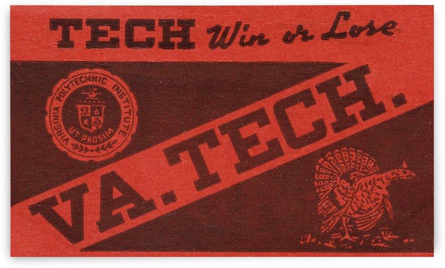 Vintage Fifties Virginia Tech Art by Row One Brand