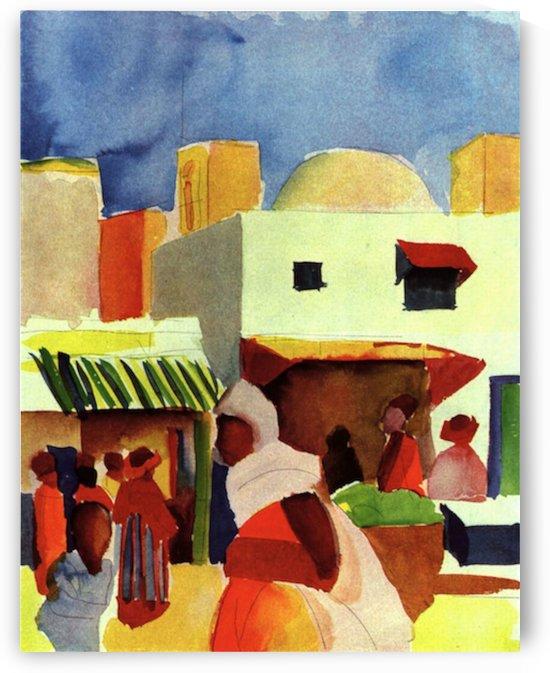 Market in Algier by Macke by Macke