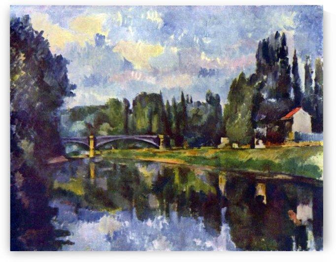 Marne Shore by Cezanne by Cezanne