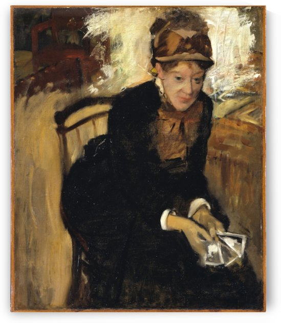 Mary Cassatt by Degas by Cassatt