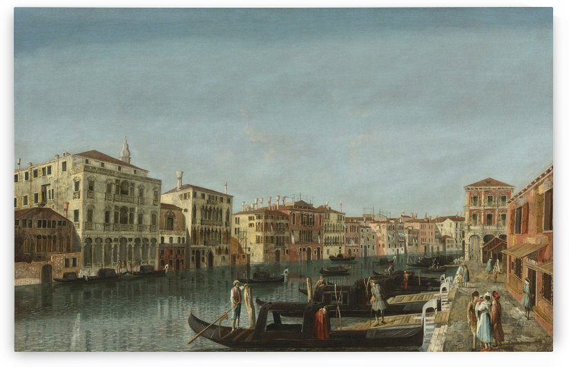 View of the Grand Canal, Venice, at the level of the Pescheria and of Palazzo Michiel Alle Colonne by Michele Marieschi