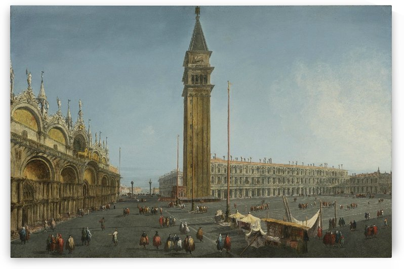 The Piazza San Marco, Venice, from the Torre dell'Orologio by Michele Marieschi