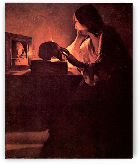 Mary Magdalene -1- by La Tour by La Tour