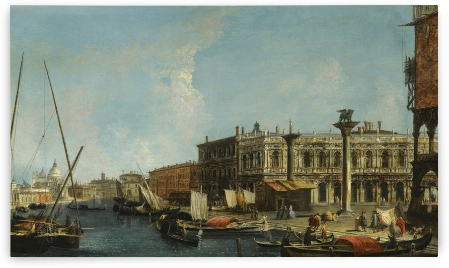 Venice, A View of the Molo from the Bacino Di San Marco with the Piazzetta and the Entrance to the Grand Canal by Michele Marieschi