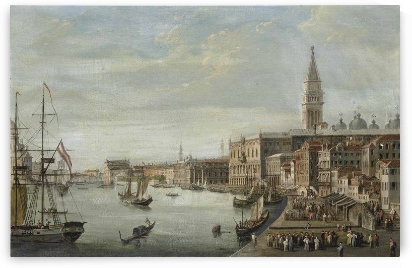 The Doge Palace with the Campanile, the Libreria Marciana and Santa Maria by Michele Marieschi