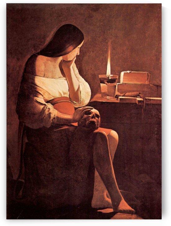 Mary Magdalene -2- by La Tour by La Tour