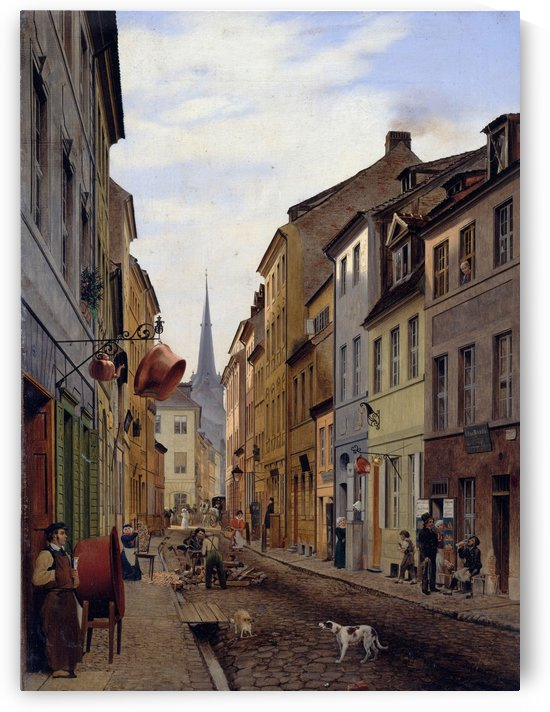 Parochialstrasse by Eduard Gaertner