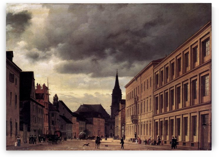 Klosterstrasse by Eduard Gaertner