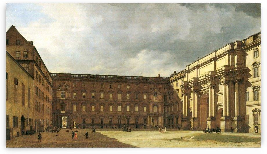 Schloss Sanssouci. Eosanderhof des koniglichen Schlosses Berlin by Eduard Gaertner
