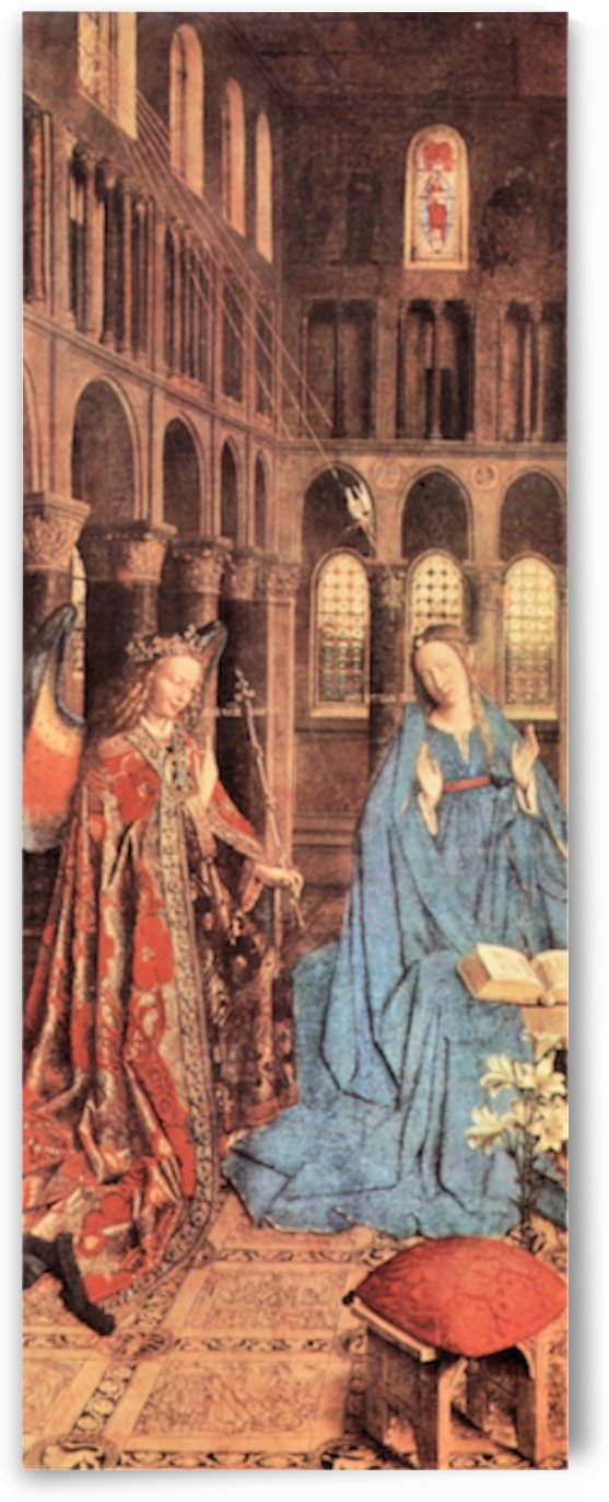 Mary s Proclamation by Jan Van Eyck by Jan Van Eyck