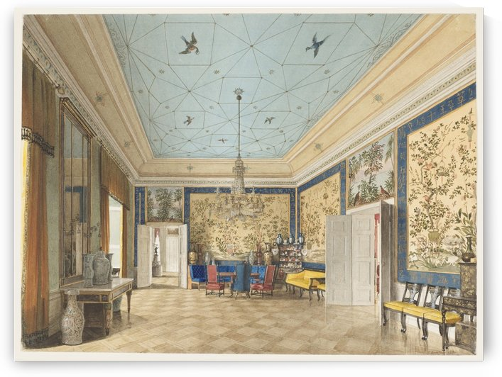 The Chinese Room in the Royal Palace, Berlin by Eduard Gaertner