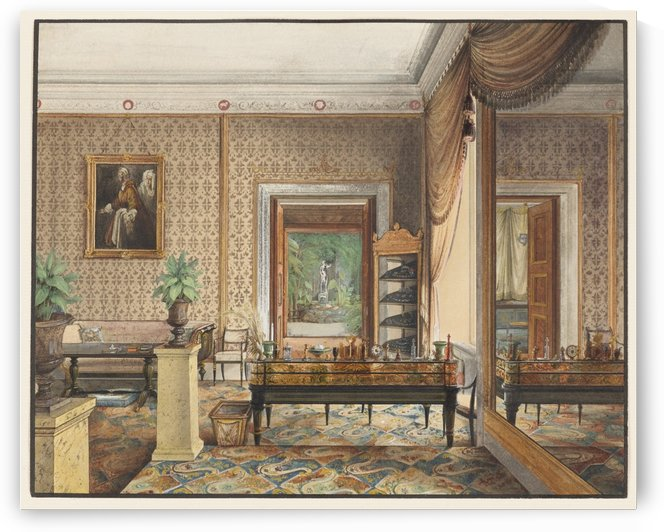 The Study of Prince Karl of Prussia by Eduard Gaertner