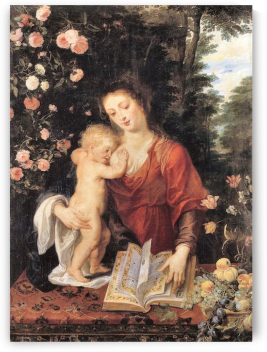 Mary with child by Rubens by Rubens