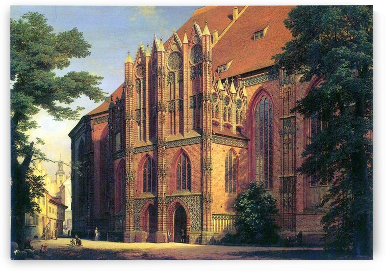 Kunstmuseum Moritzburg. Die Katharinenkirche zu Brandenburg by Eduard Gaertner