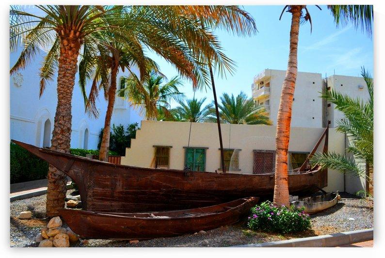 Wooden boat in Oman by Elena Ska