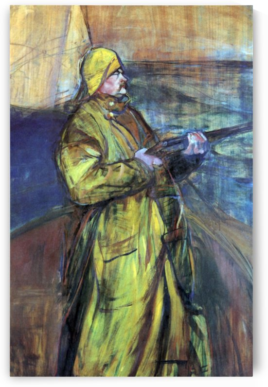 Maurice Joyant at the Bay Somme by Toulouse-Lautrec by Toulouse-Lautrec