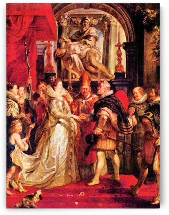 Medici Marriage in Florence by Rubens by Rubens