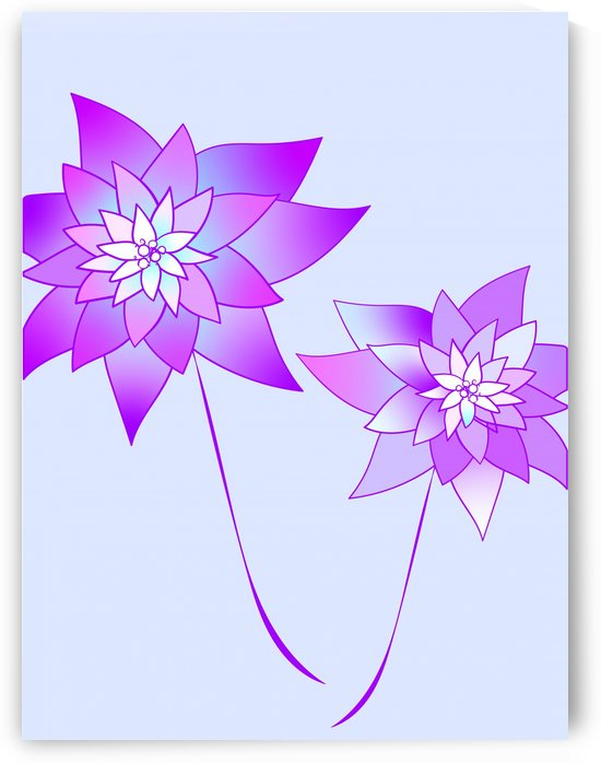 purple gradient flower by Chino20