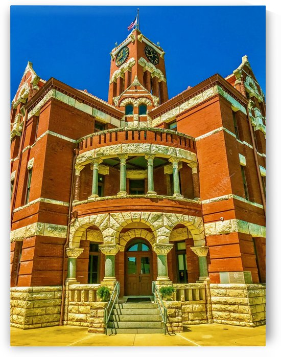 Lee County Courthouse TX- Color by Shay Morrow