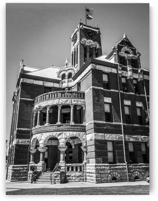 Lee County Courthouse TX - BW by Shay Morrow