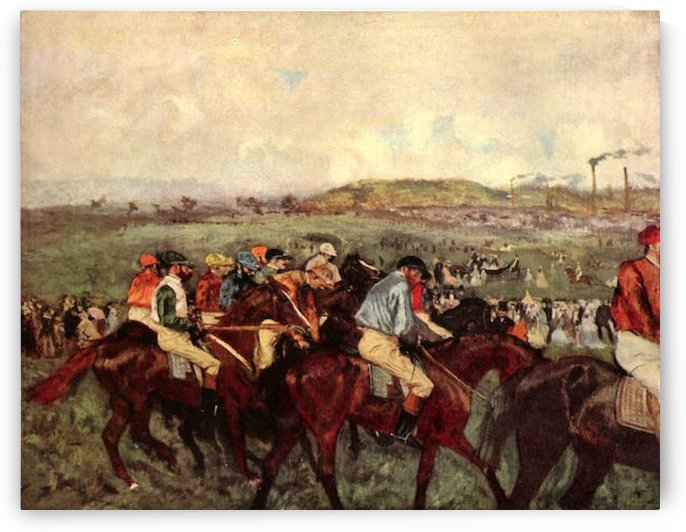 Men s riders before the start by Degas by Degas