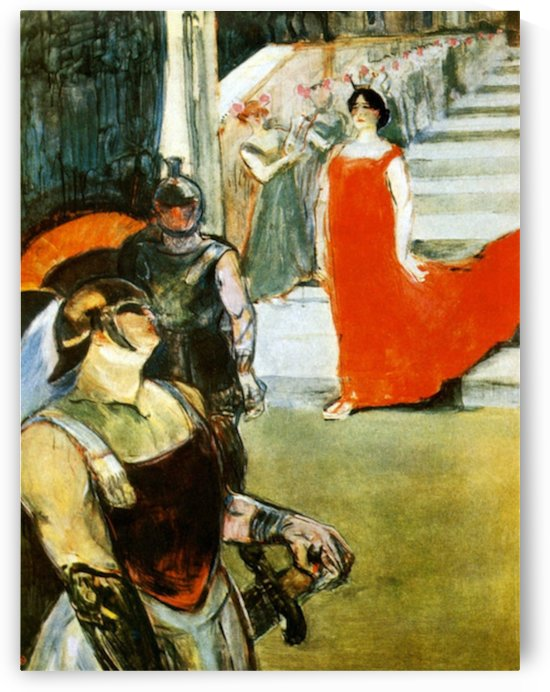Messalina Descending by Toulouse-Lautrec by Toulouse-Lautrec