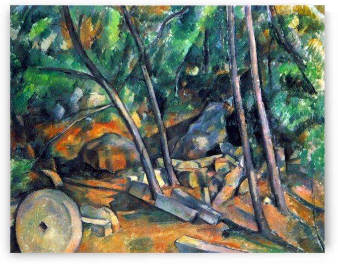 Mill Stone by Cezanne by Cezanne