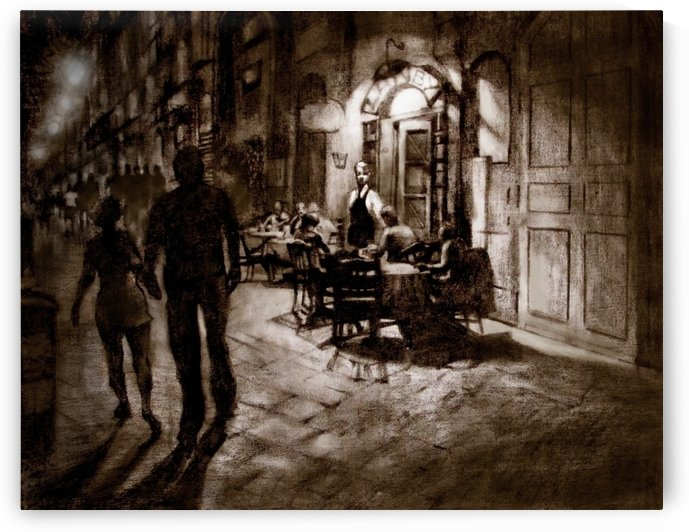 Roman Streets and Hungry in Naples  by David Flett